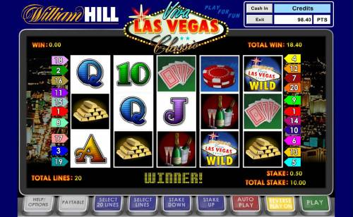 Viva Las Vegas Classic Big Bonus Slots With the Reverse Play On, no winning paylines triggers a win.