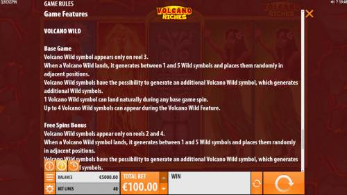 Volcano Riches review on Big Bonus Slots