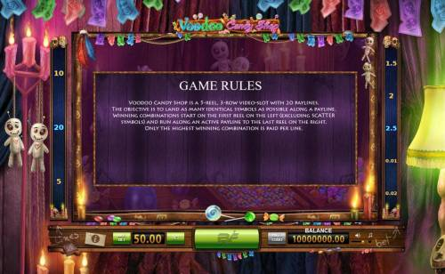 Voodoo Candy Shop Big Bonus Slots General Game Rules