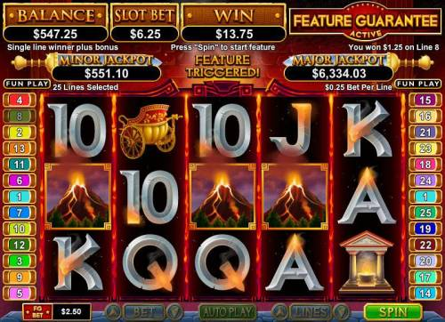 Vulcan review on Big Bonus Slots