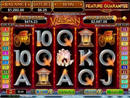 Vulcan review on Big Bonus Slots