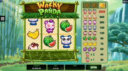 Wacky Panda review on Big Bonus Slots