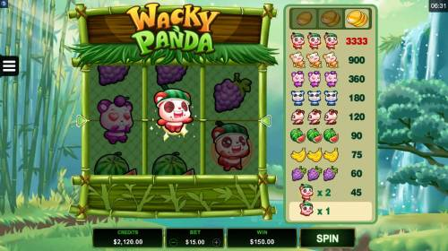 Wacky Panda review on Big Bonus Slots
