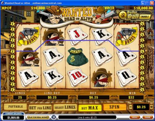 Wanted Dead or Alive review on Big Bonus Slots