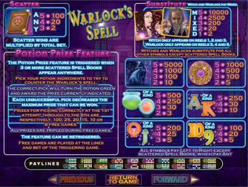 Warlock's Spell review on Big Bonus Slots