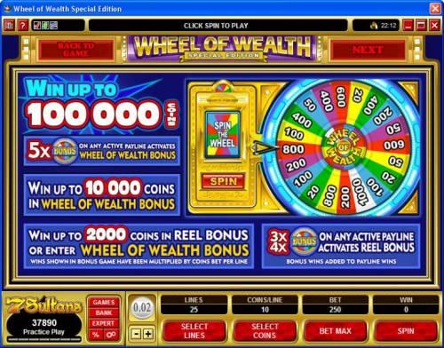 Wheel of Wealth Special Edition review on Big Bonus Slots