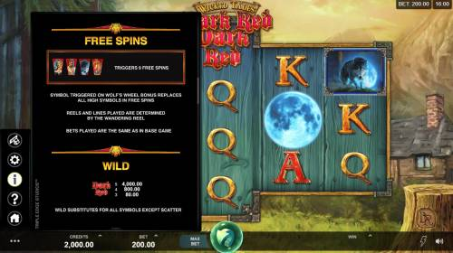 Wicked Tales Dark Red Big Bonus Slots Free Spins Rules