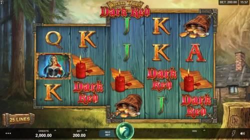 Wicked Tales Dark Red Big Bonus Slots Main Game Board