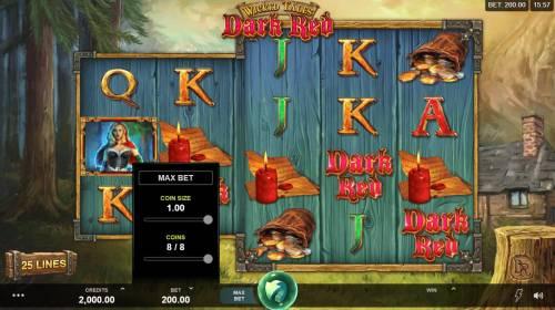 Wicked Tales Dark Red Big Bonus Slots Betting Options