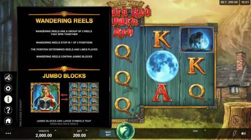Wicked Tales Dark Red Big Bonus Slots Feature Rules