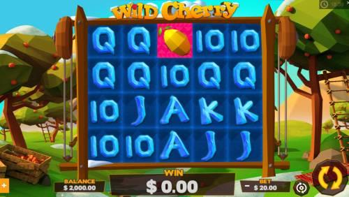 Wild Cherry Big Bonus Slots Main Game Board