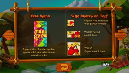 Wild Cherry Big Bonus Slots Wild and Scatter Symbol Rules