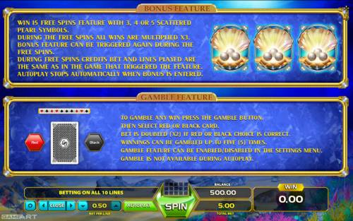 Wild Dolphin Big Bonus Slots Feature Rules