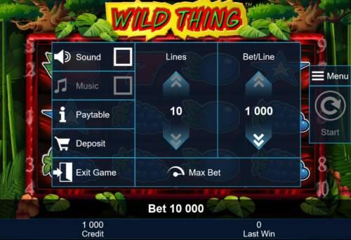 Wild Thing review on Big Bonus Slots