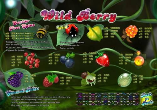 Wild Berry - 5 Reels review on Big Bonus Slots