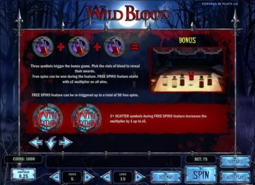 Wild Blood review on Big Bonus Slots
