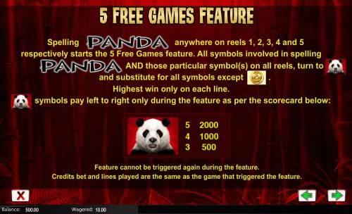 Wild Panda review on Big Bonus Slots