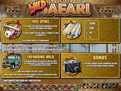 Wild Safari review on Big Bonus Slots