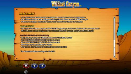 Wildcat Canyon review on Big Bonus Slots