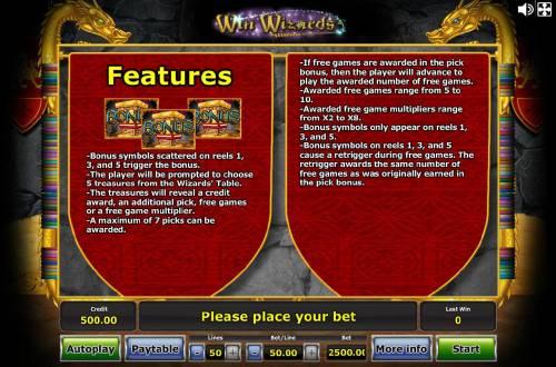 Win Wizards review on Big Bonus Slots