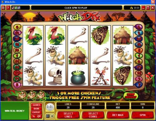 Witch Dr review on Big Bonus Slots
