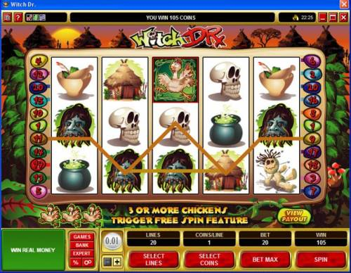 Witch Dr review on Big Bonus Slots