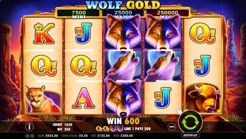 Wolf Gold review on Big Bonus Slots