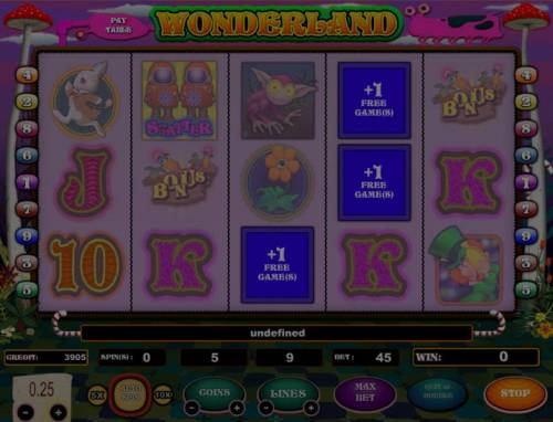 Wonderland review on Big Bonus Slots