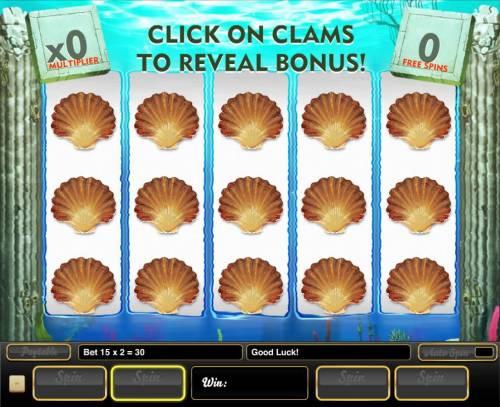 Wonders of the Deep Big Bonus Slots Click on clams to reveal bonus.