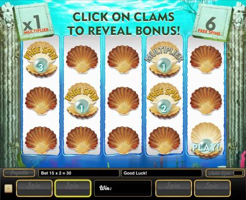 Wonders of the Deep Big Bonus Slots Select clams to reveal free spins and multipliers. Pick feature ends when a Play is revealed.