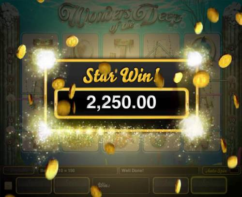Wonders of the Deep Big Bonus Slots A 2,250.00 big win awarded