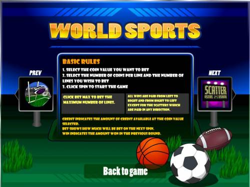 World Sports review on Big Bonus Slots