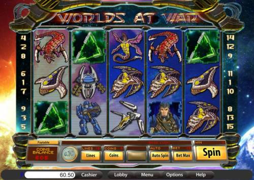Worlds at War review on Big Bonus Slots