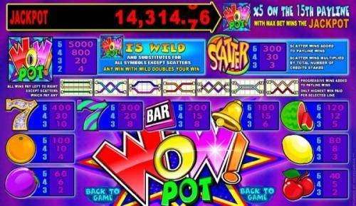Wow Pot 5 Reel review on Big Bonus Slots