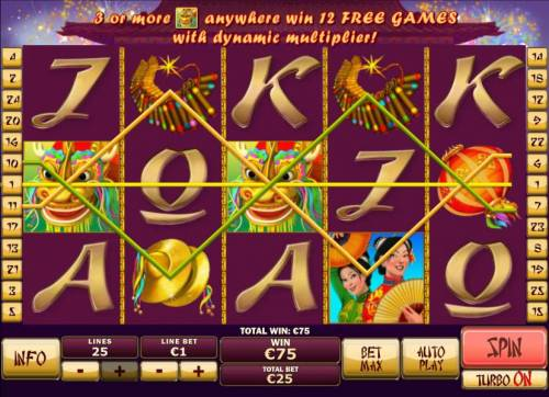 Wu Long Big Bonus Slots Multiple winning paylines triggers a big win!