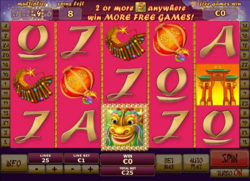 Wu Long Big Bonus Slots Free Games feature game board