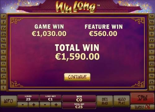 Wu Long Big Bonus Slots