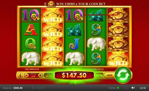 Xing Yun Jin Chan Big Bonus Slots Multiple winning paylines triggers a big win