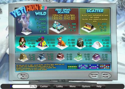 Yeti Hunt i3D review on Big Bonus Slots