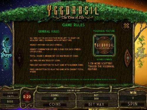 Yggdrasil The Tree of Life review on Big Bonus Slots