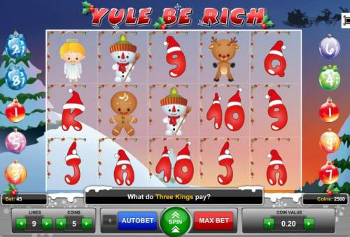 Yule Be Rich review on Big Bonus Slots