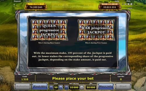 Zenia Queen of War review on Big Bonus Slots