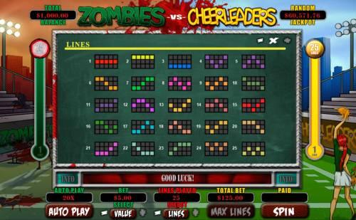 Zombies vs Cheerleaders Big Bonus Slots Paylines 1-25