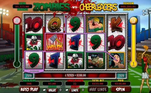 Zombies vs Cheerleaders Big Bonus Slots Multiple winning combinations