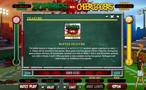 Zombies vs Cheerleaders review on Big Bonus Slots